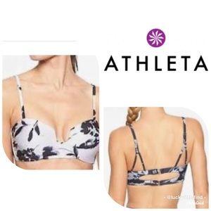 Athleta •Aqualuxe Square Plunge Bkini Top XS